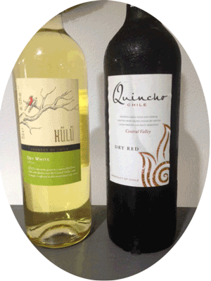 one glass of Chilean red or white wine