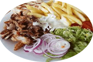 chicken or pork gyros