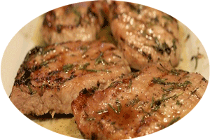 tenderloin pork with mushrooms and wine sauce
