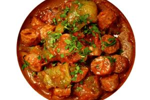 spetsofai greek dish