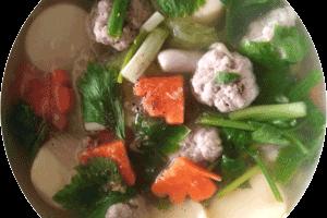 thai style tofu soup