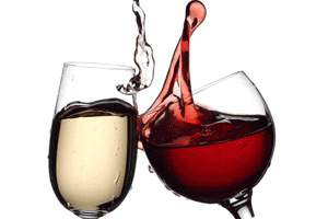 white or red wine